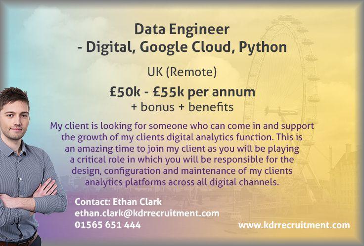 New Job Remote Data Engineer Digital, Google Cloud