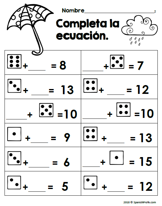 Second Grade Spanish Worksheets For 2nd Grade ...