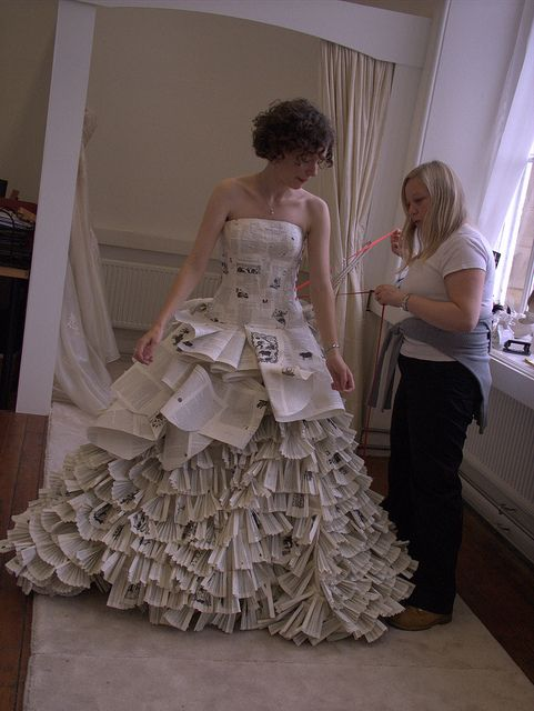 The Word Dress Made From Over 2500 Pages Copies Of Angela Carter S Book