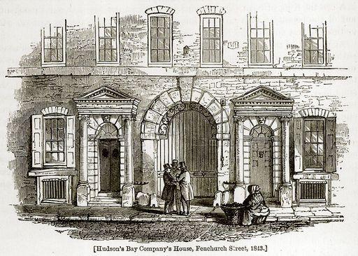 London 1843 Street Caption Hudson S Bay Company S House Fenchurch Street 1843 Companies House Photo Printing Poster Prints
