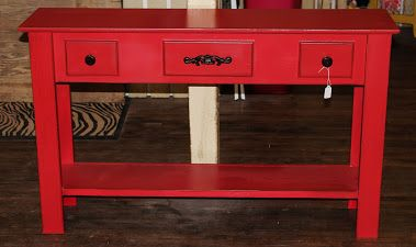 Antique Red Sofa Table Furniture Makeover Red Sofa Sofa Table