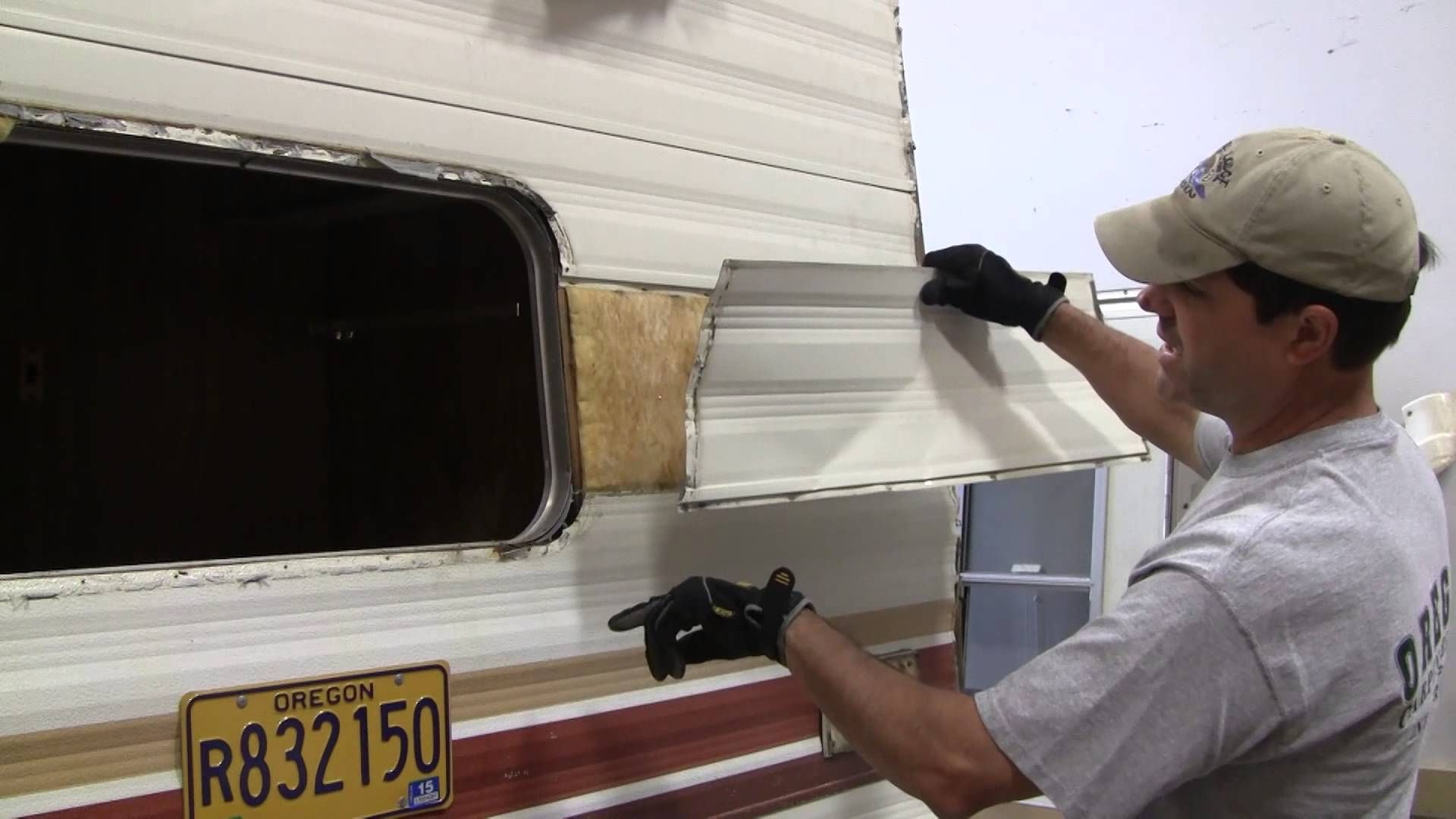 Replacing A Single Piece Of Siding 2 Vintage Travel Trailers Camper Repair Travel Trailer