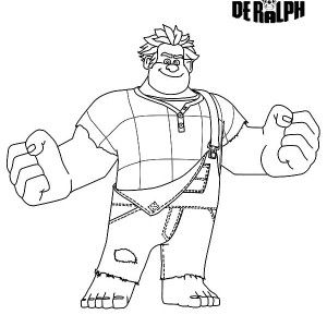 The Evil King Candy from Wreck it Ralph Movie Coloring