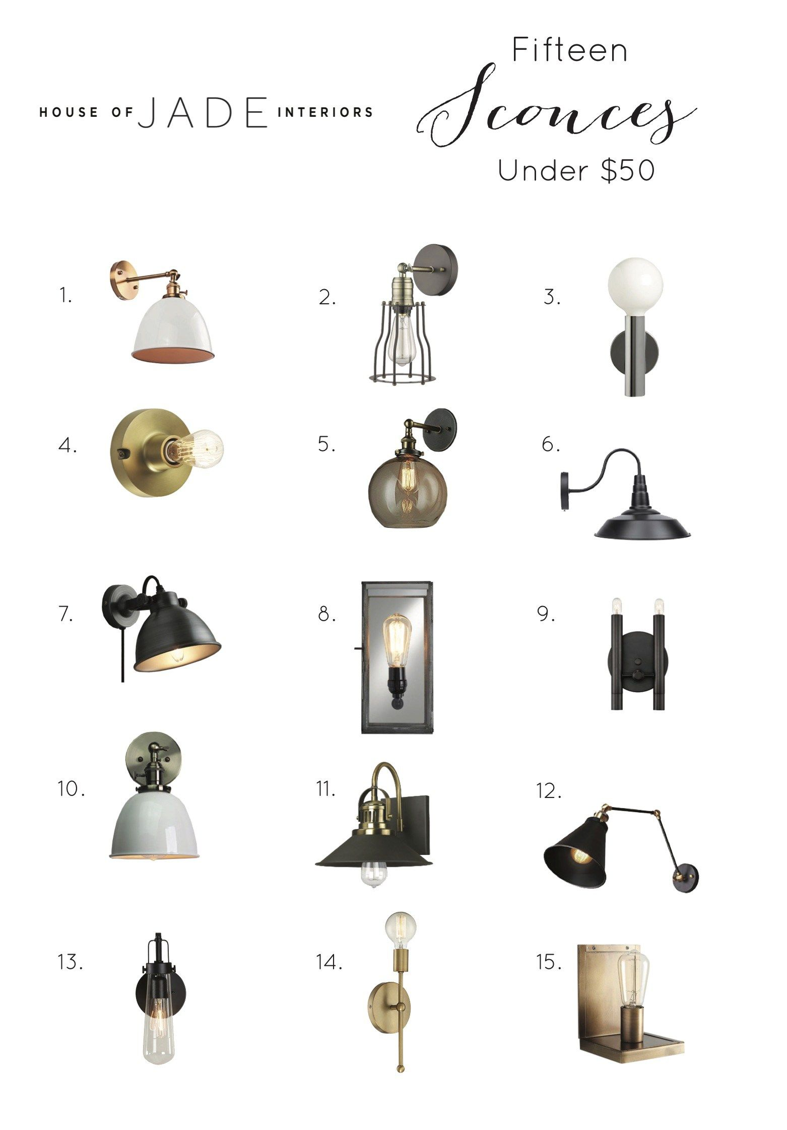 Our Favorite 15 Scones Under 50 Farmhouse Wall Sconces Wall Sconces Bedroom Sconces Living Room