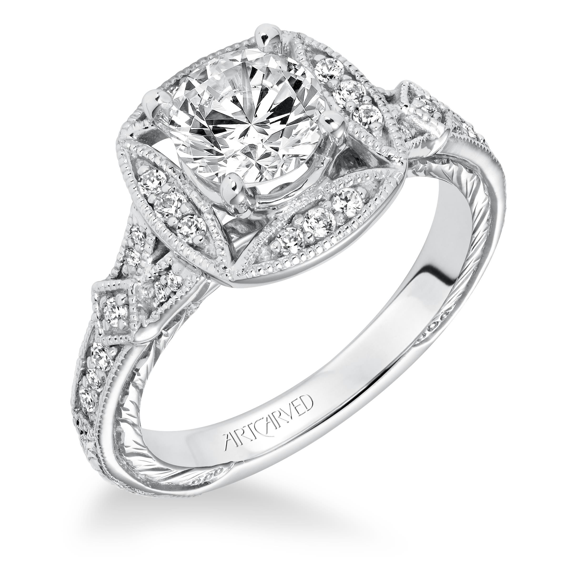 wedding f sku detailed round clarity engagement dgc sidestones rings carat fsi enhanced white ring diamond certified gold itm