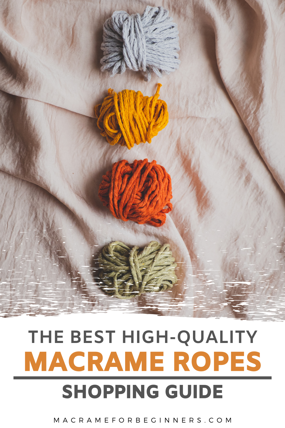Looking for the best high-quality Macrame Ropes, Macrame Cords and Macrame Supplies? Check out my Macrame Shopping Guide to discover all my favorite brands to make your Macrame projects look even more gorgeous! -- Learn how to Macrame in just 5 minutes and get inspired by tons of easy DIY Macrame projects for beginners with video tutorials on macrameforbeginners.com #macrame #macramesupplies #macramecords #macrameropes #macramediy #macrametutorials #macrameprojects #macramepatterns