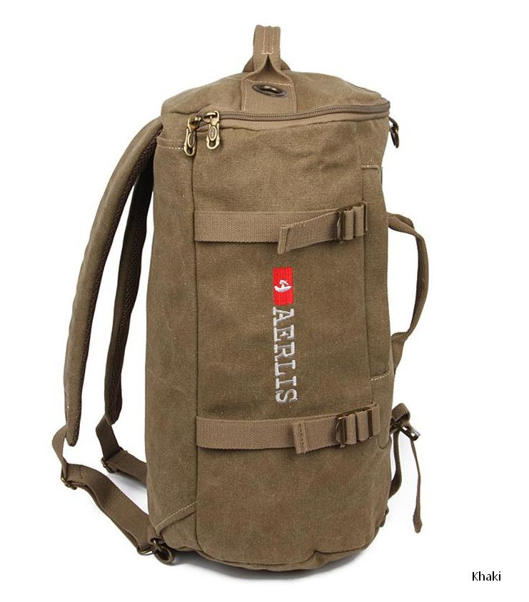be034abf7a52 Find More Backpacks Information about Korean canvas backpack bucket sports  bag for travel hiking travel rucksack shoulder bags leisure college new  I5703 ...