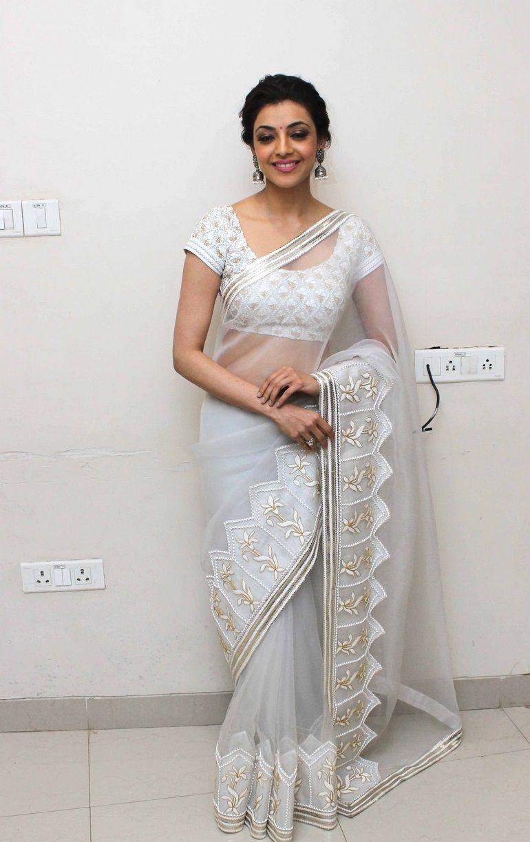 White saree hot photos
