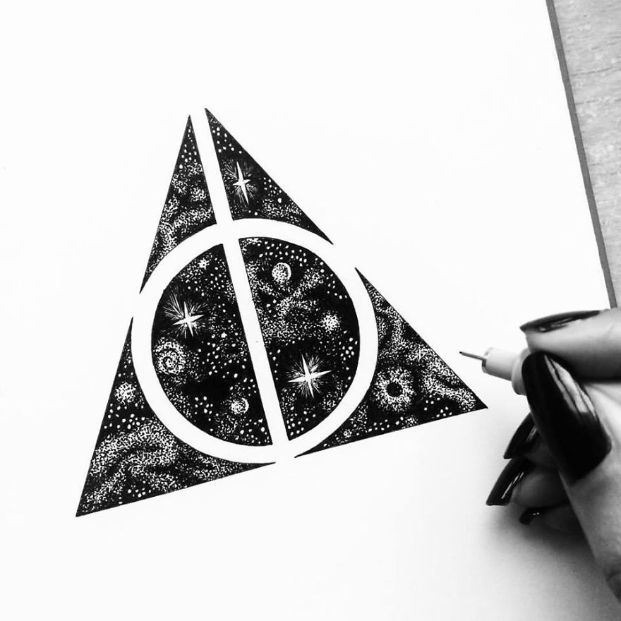 i am obsessed with drawing super detailed art bored panda zentangle harry potterdessin