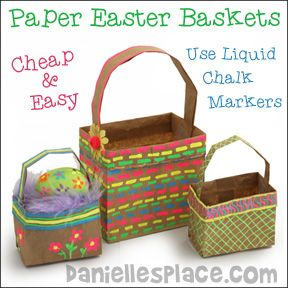 Paper lunch bag easter baskets from daniellesplace click easter crafts for kids easter games christian crafts bible crafts negle Choice Image