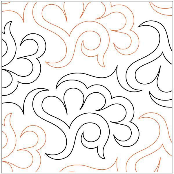 Jade Paper Pantograph 8.75  - The Stencil Company | FMQ ... : paper pantograph quilting patterns - Adamdwight.com
