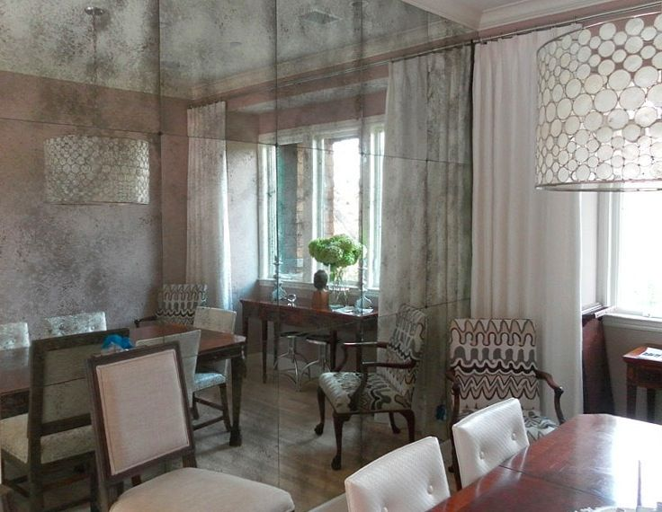 cle' antique mirror tile. available in 3 degrees of distressing