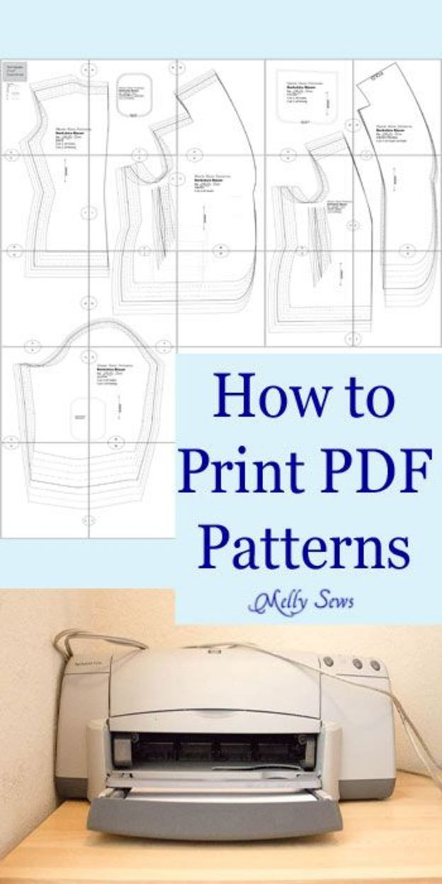 How to Print PDF Sewing Patterns | Pinterest | Costura, Patrones y ...