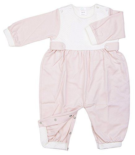 588de338389f Paty Pima Jacquard Romper wside Tabs 36M Pink    Check out this ...