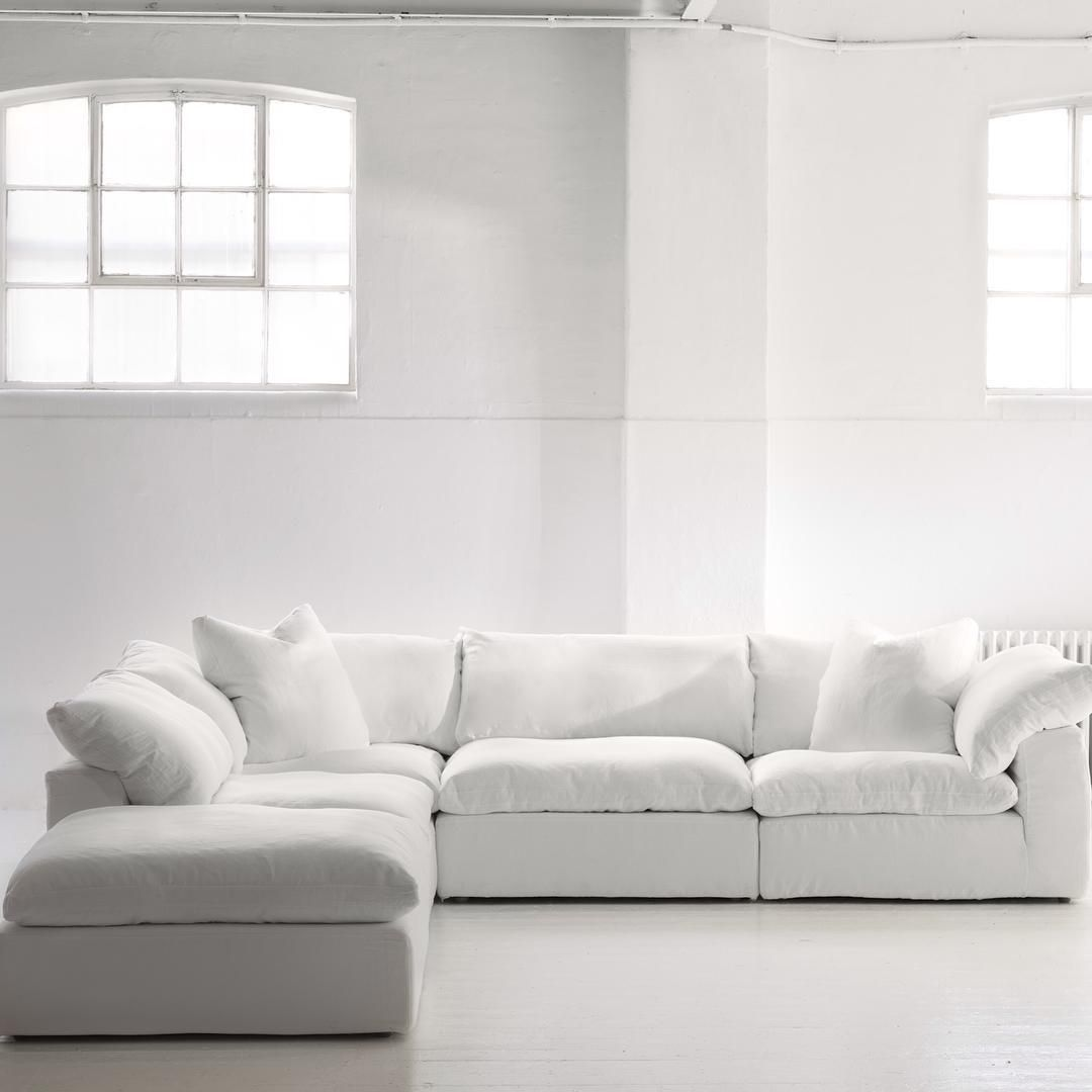 How Scrumptious Is Our New Truman Sectional Sofa Waltonst Whitelinen Andrewmarting With Images White Sectional Sofa Large Sectional Sofa Sectional Sofa