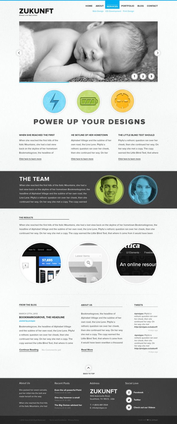 Zukunft Creative PSD Template | Zukunft und Wolle
