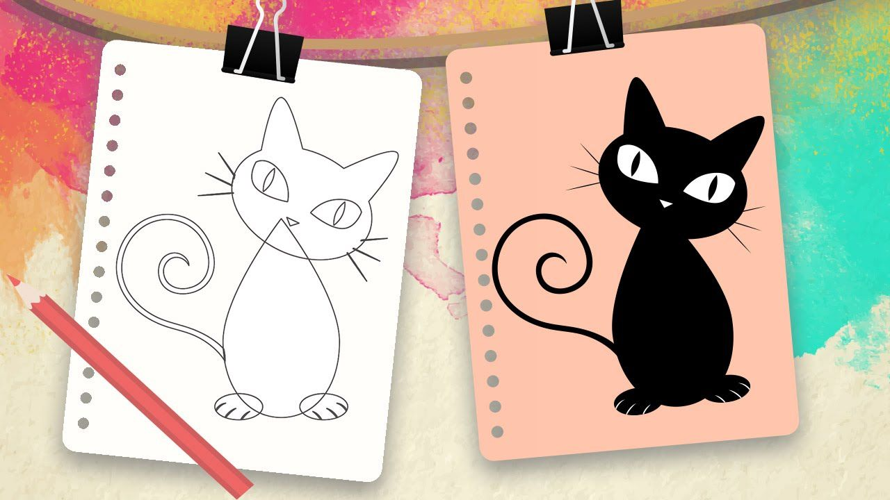 Resultado de imagen para caratulas de perros y gatos para dibujar