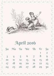 Risultati immagini per calendar aprilie  2016