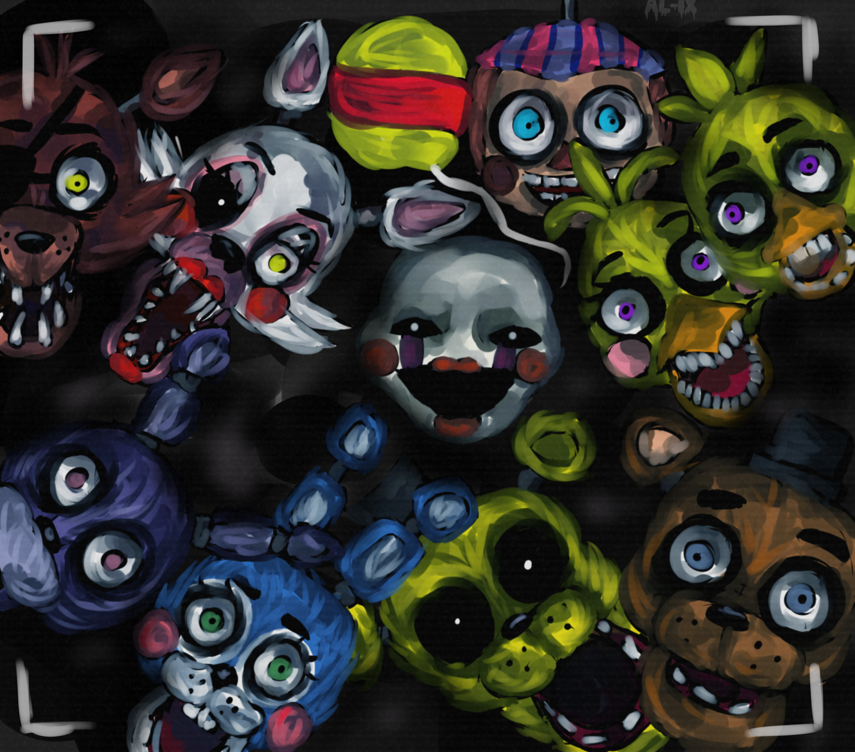 Fnaf 2 Too Late, Theyre Already Here +Speedpaint By Al Ixdeviantartcom