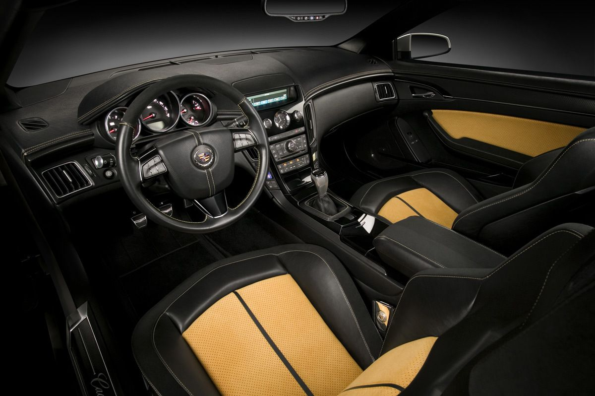 Cadillac Cts V Coupe Interior With Adjustable Seat Yellow And Black