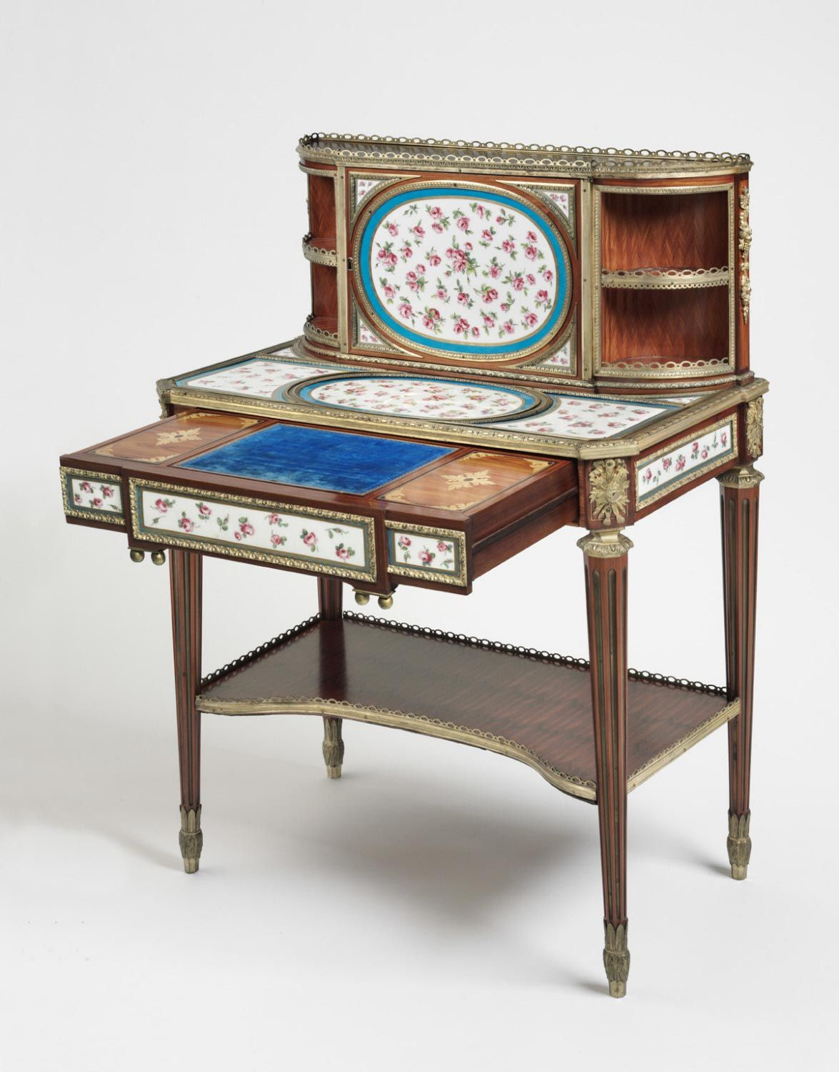 Writing Desk Bonheur Du Jour Made By Martin Carlin Plaques Made By The  Sèvres Porcelain Factory