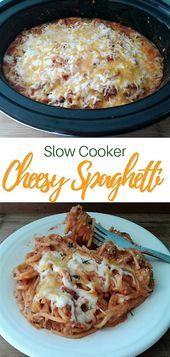 CrockPot Cheesy Spaghetti