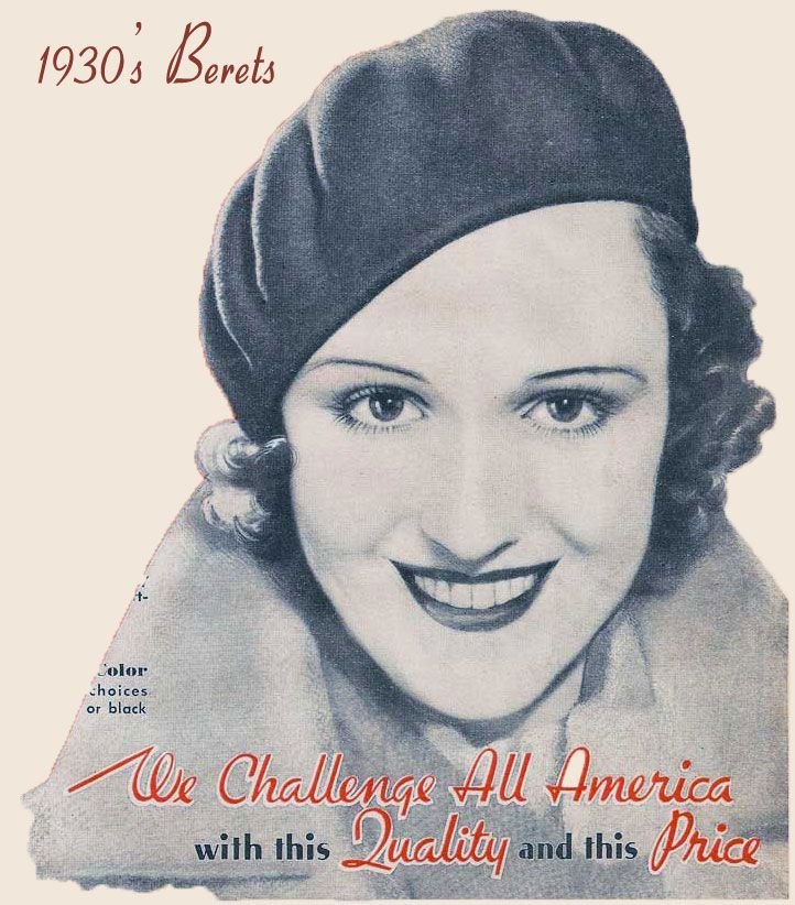 1930s womens hats berets became the hat of 30s women