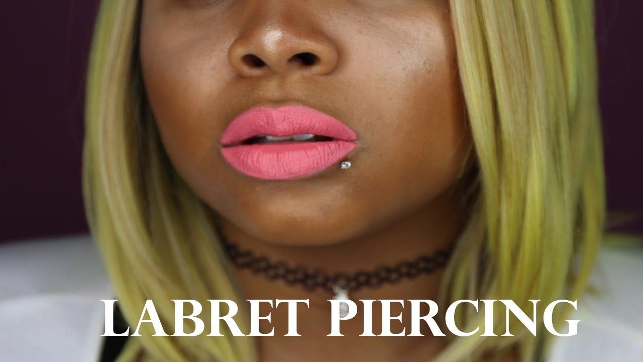 How To Pierce Your Own Lip Labret Youtube Pinterest Labret