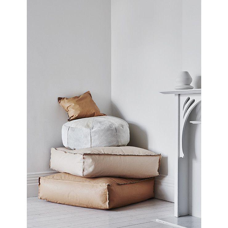 GlobeWest leather cushions