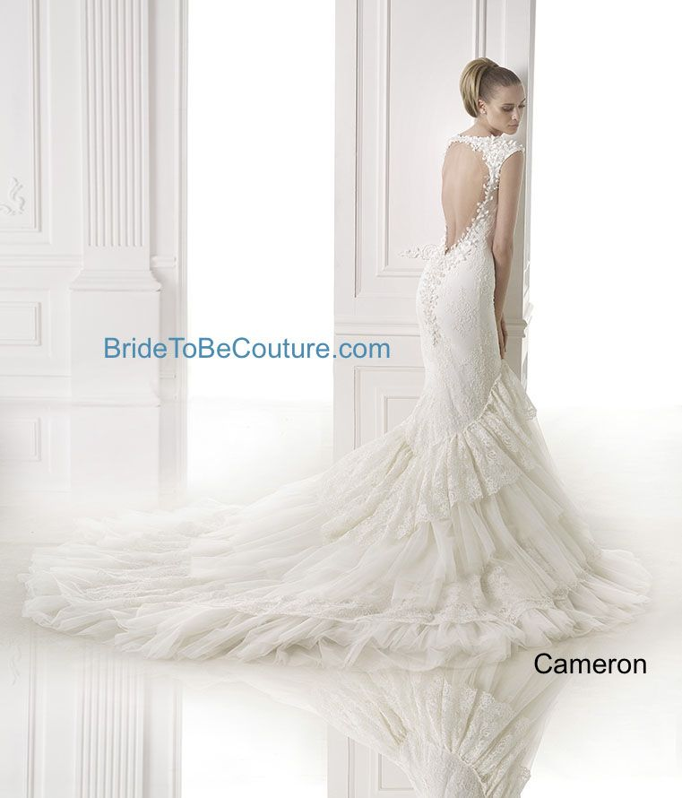 ATELIER PRONOVIAS - The open back on this Cameron wedding dress is ...