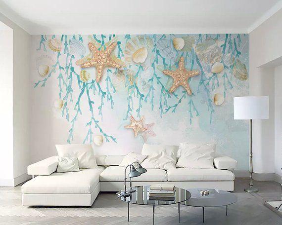Best Sea Wallpaper Undersea Wall Mural Starfish Wall Art Modern 400 x 300