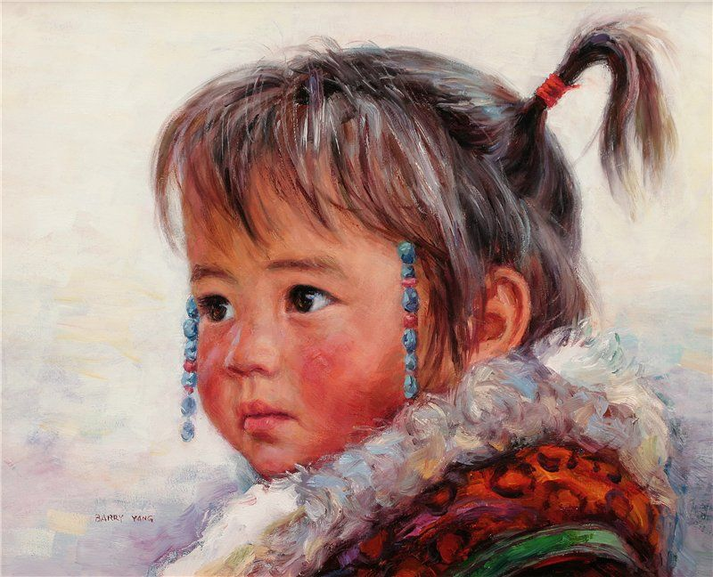 Barry Yang ~ Children in art | Art, Portrait and Painters