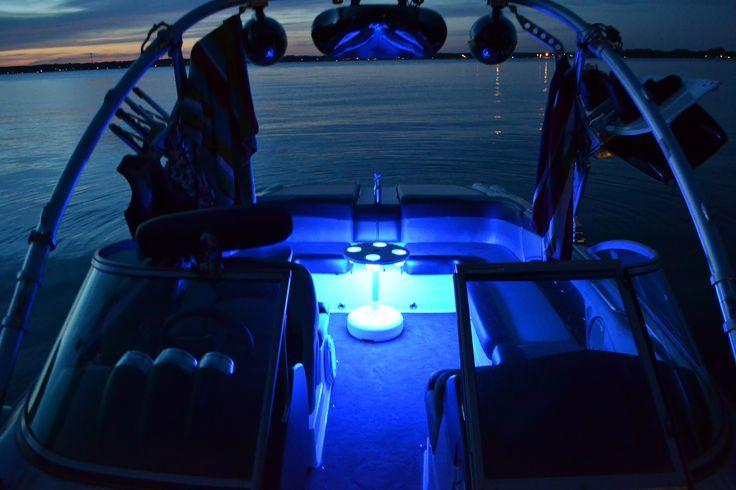 4 Pcs White LED 1/' Boat Light Waterproof 12v Deck Flex Courtesy Bow Trailer Tape