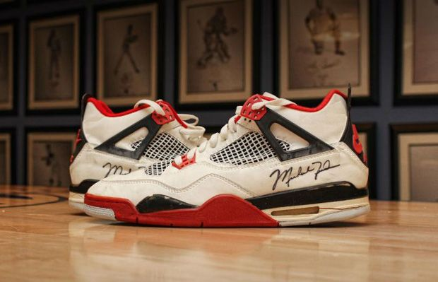 These Michael Jordan Game-Worn And Signed Air Jordan 4s Are Up For Auction