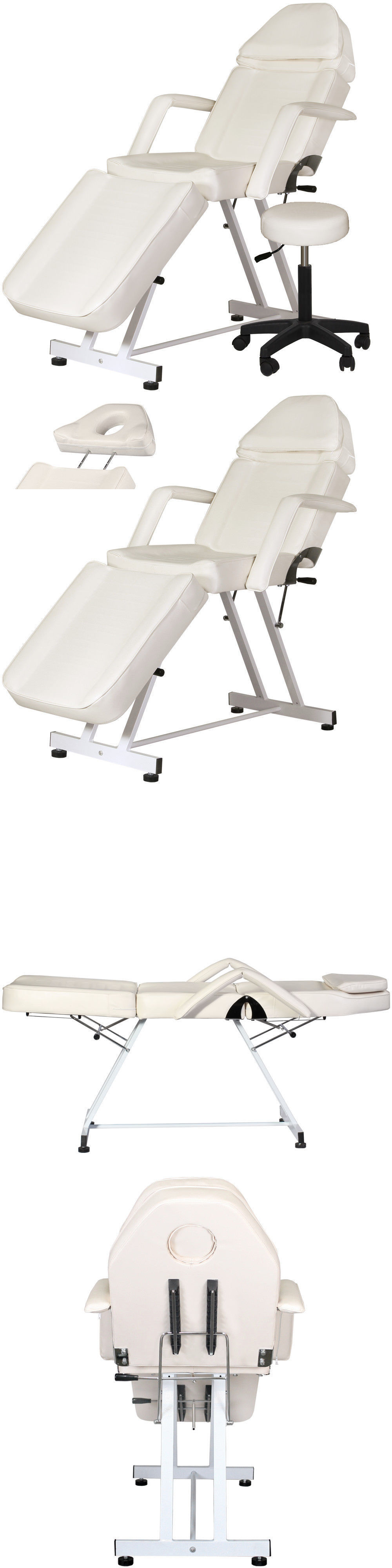 Massage Tables and Chairs White Facial Chair Massage Tattoo Stool