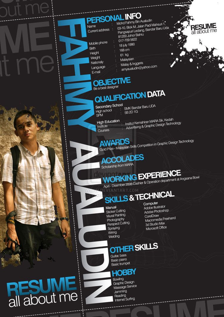 resume by ~puziah on deviantART | Don´t know why but I like | Pinterest