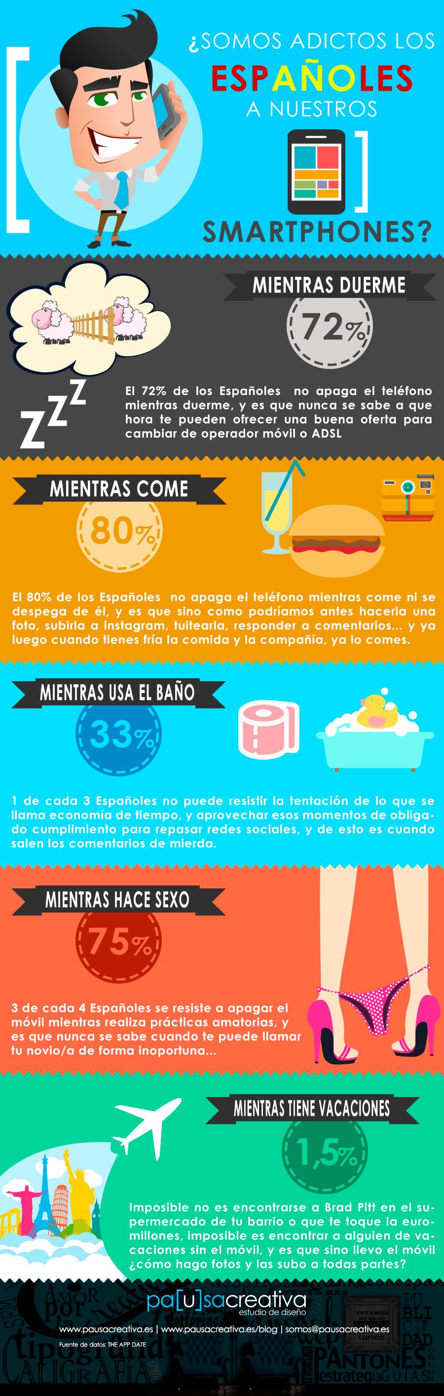 infografia ¿Somos los Españoles adictos al móvil? #marketing • EL ...