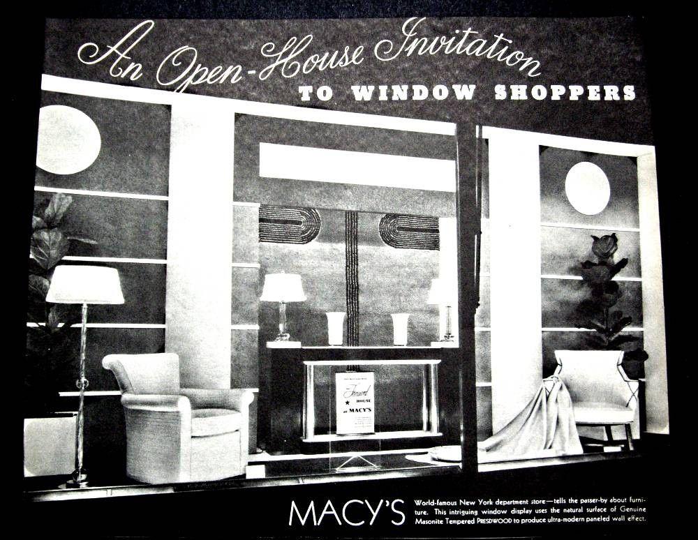 Vintage Original 1935 New York Macys Department Store