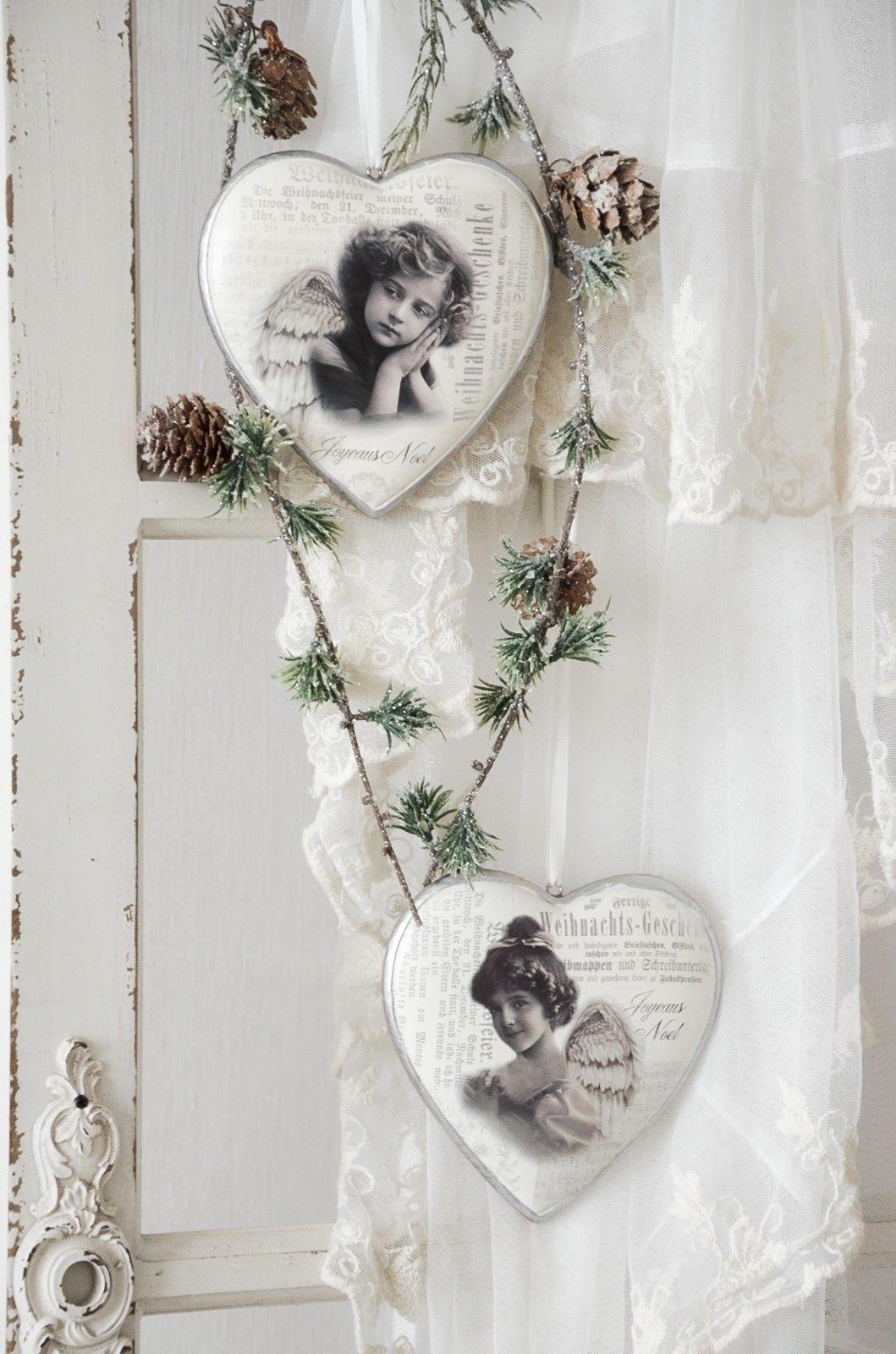 Badezimmerdesign für mädchen details zu herz anhänger engel mädchen nostalgie weihnachten shabby