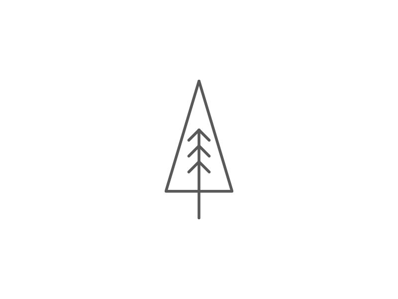 Christmas Tree Thin Line Icon Png Tree Line Tattoo Tree