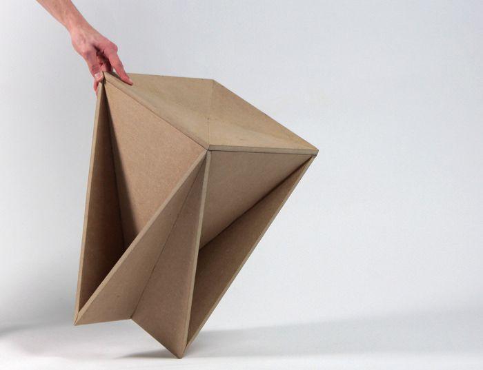 Stool Concept Tabouret Origami Guillaume Allemon Bed Design En Carton Mobilier En Carton Design Origami