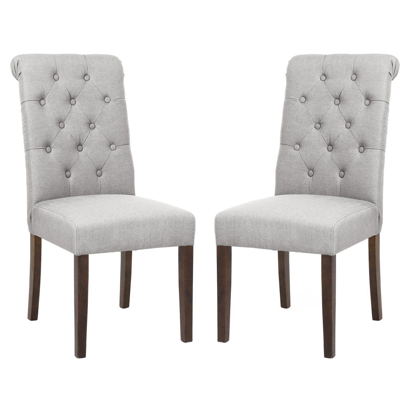 Edgemod Atlanta Tufted Parson Dining Chair Set Of 2 Upholstered Dining Chairs Dining Chairs