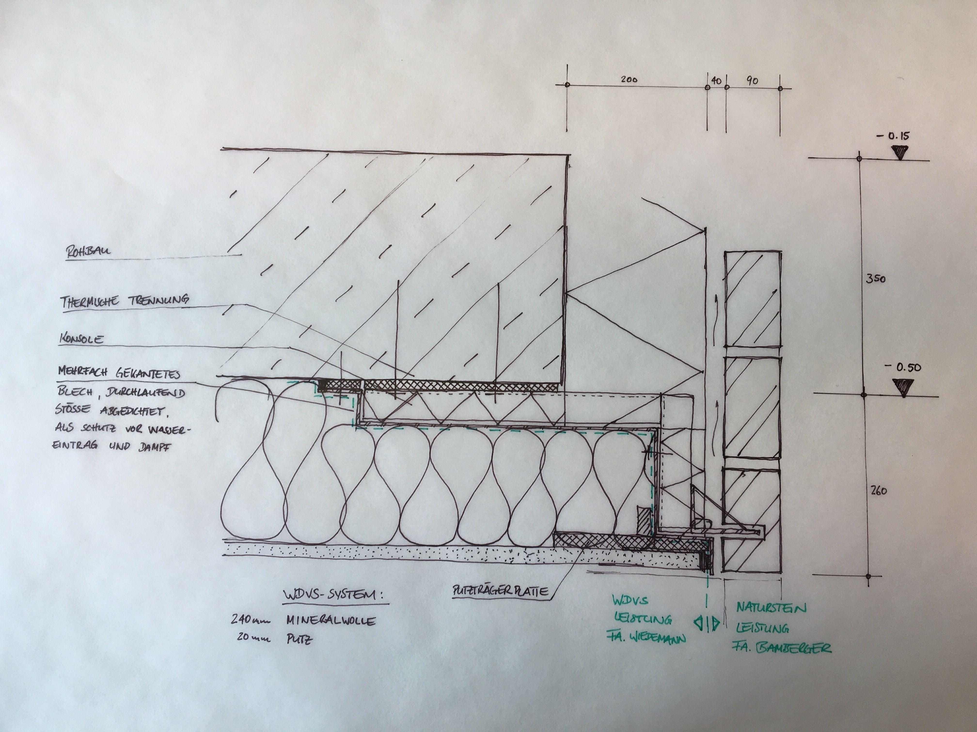 brick mauerwerk insulation sketch skizze. Black Bedroom Furniture Sets. Home Design Ideas