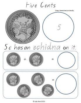 australian money part 2 australian coins 5c 2 money australian money money worksheets. Black Bedroom Furniture Sets. Home Design Ideas