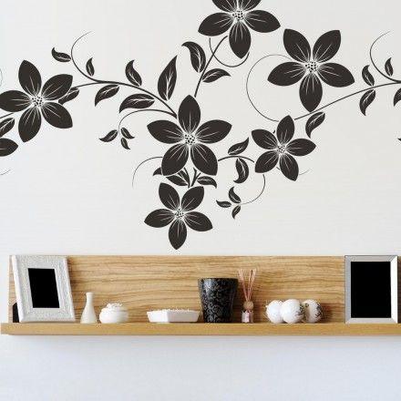 Muursticker bloemen op tak - Love For Deco Home Pinterest
