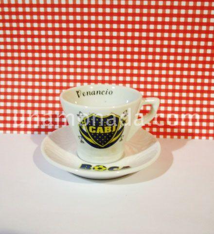 Taza con plato - Boca Juniors