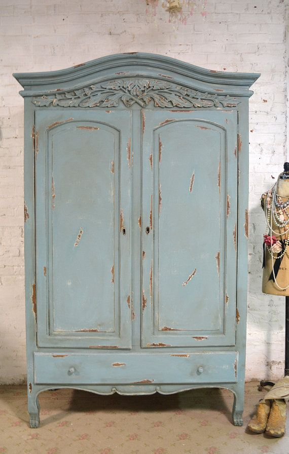 DEPOSIT for JANELLE French Armoire Painted Cottage Chic Shabby ...