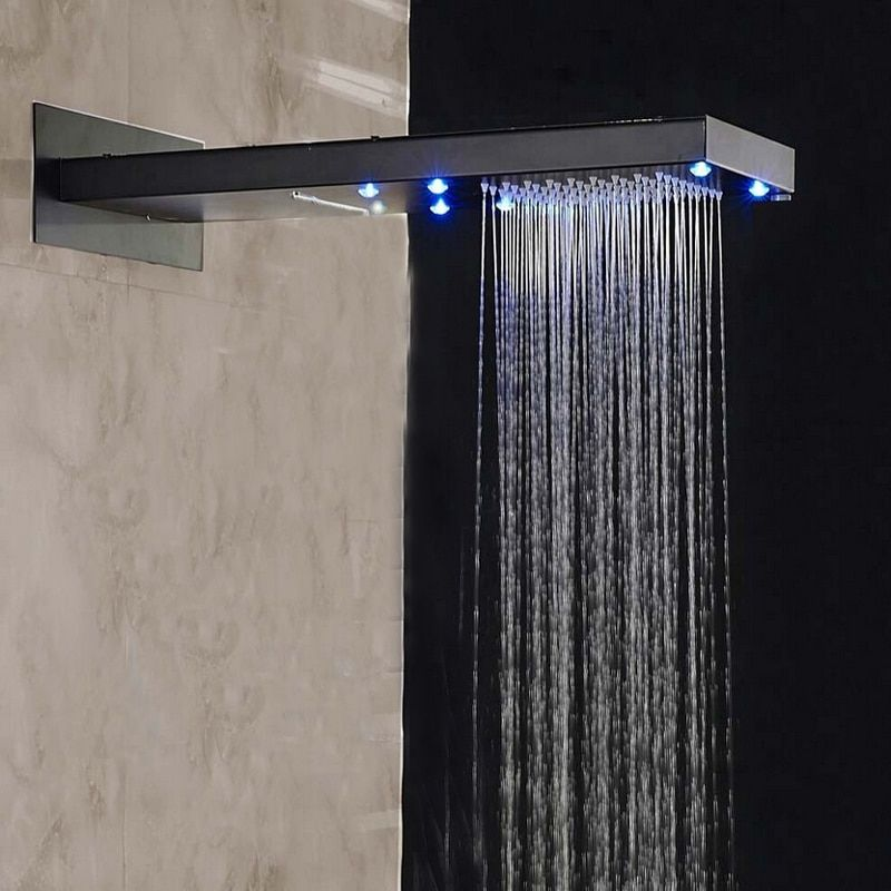 Us 114 92 32 Off Led Oil Rubbed Bronze Rain Waterfall Shower