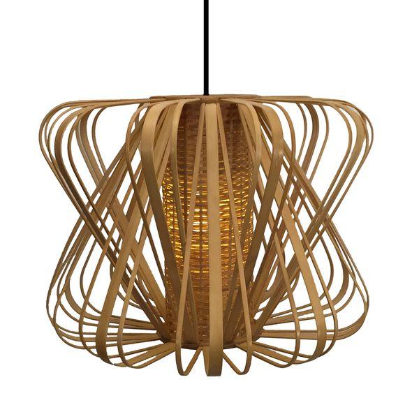 Bamboo Slat Striped Pendant Lamp (Philippines) | Design | Pinterest