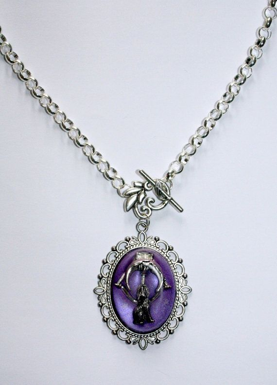 Silver resin necklace fantasy silver charm necklace pagan gifts silver resin necklace fantasy silver charm necklace pagan gifts for her unusual jewelry aloadofball Image collections